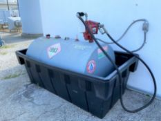 250 USG Diesel fuel tank in containment trough with electric pump