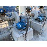 (lot of 2) Meidinger Witt biogass pressure booster with belt drive 10 HP WEG W21 Severe Duty