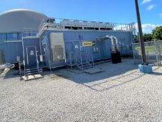 Sound attenuator enclosure building for (2) CAT GENSETS, 35' X 55' (2) piece steel on steel