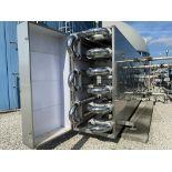 2013 Schmidt double tube stainless steel heat exhanger, skid mount in stainless steel enclosure