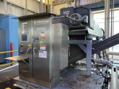 2013 Flottweg C5E-4/54 stainless steel w dewatering decanter centrifuge with PLC controls, rebuilt