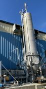 "36"" X 25' 316 stainless steel distillation tank with front manway"