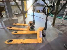 (Lot of 2) 5,500# manual hydraulic pallet jacks