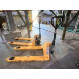 (Lot of 2) 5,500# manual hydraulic pallet jacks