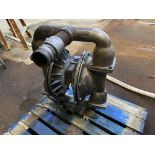 """Wilden stainless steel pneumatic double diaphragm pump (uninstalled on pallet) 3"""" in 2"""" out"""