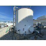 10' diameter X 10' high10,000 USG carbon steel water storage tank, front manway, Rosemont digital