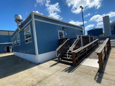 2013 24' X 48' portable building (office building) on steel skids, ADA compliant bathroom, (3)