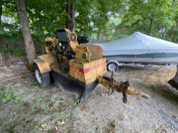 Rayco 1672 DXH Diesel trailer mounted stump grinder, Rayco towable pintel hook trailer, 1,760 hrs.