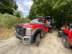 2011 Ford F550 S/A dump body truck, VIN# 1FDUD5HTOBEC21708, 19,500# GVWR, dual rear wheels,