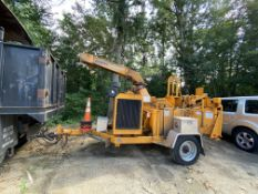 "2012 Bandit 1590XP trailer mounted John Deere 5 cyl Diesel chipper, 18"" drum style,"