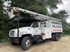 2001 Chevrolet C7500 S/A Forestry Bucket truck, chipper body, VIN# 1GDM7H1C1155011409, Altec LRV58