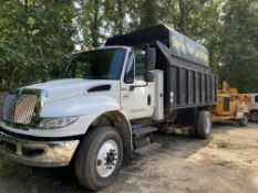 2007 International 4400 S/A chipper body dump truck, VIN# 1HTMKAAN77H478376DT466, 6 cylinder Diesel,