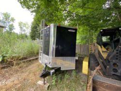 2016 Freedom Trailers aluminum T/A enclosed equipment trailer, VIN# 5WKBE162XG1037581 aerodynamic