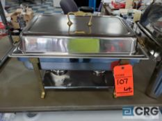 Lot of (4) 8 qt rectangular brass handles classic chafing dishes, 12 x 20