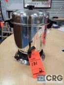 Lot of (2) assorted 50 cup stainless coffee makers