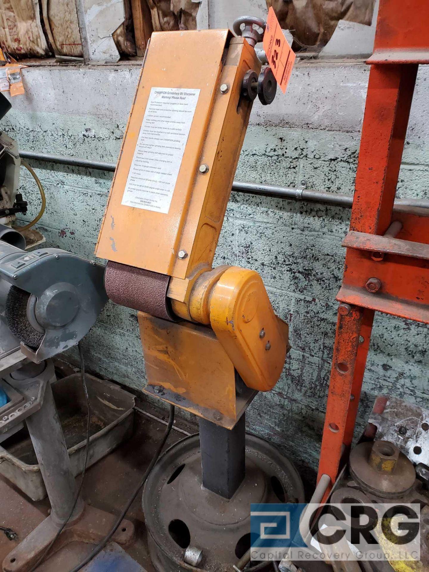 Lot 323 - Champion 6 inch belt grindsharp belt sander, 1 phase