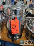 Lot of (3) assorted 110 cup stainless coffee makers