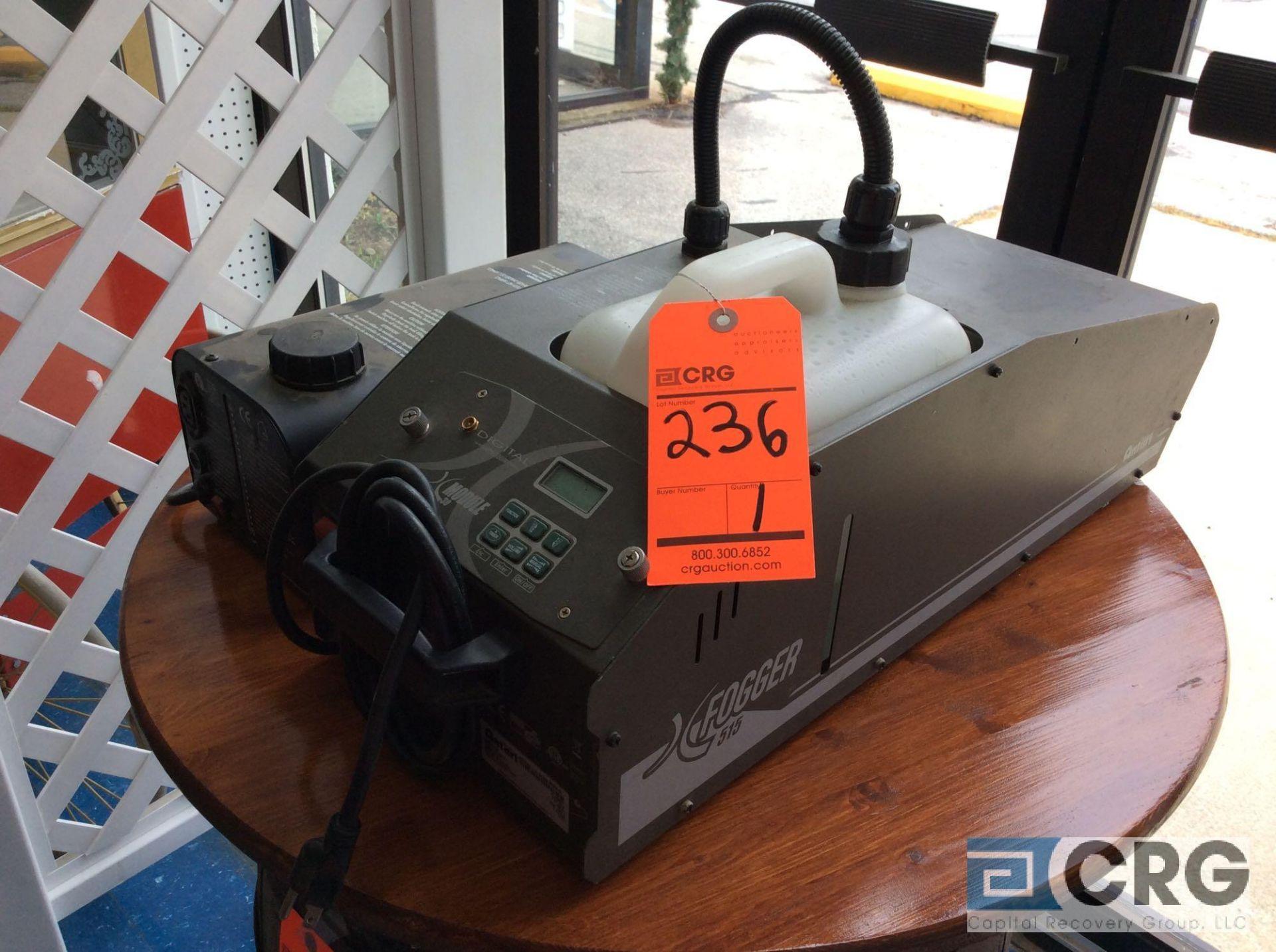 Lot 236 - Lot consists of (2) portable foggers, (1) Antari 515, (1) fog-700