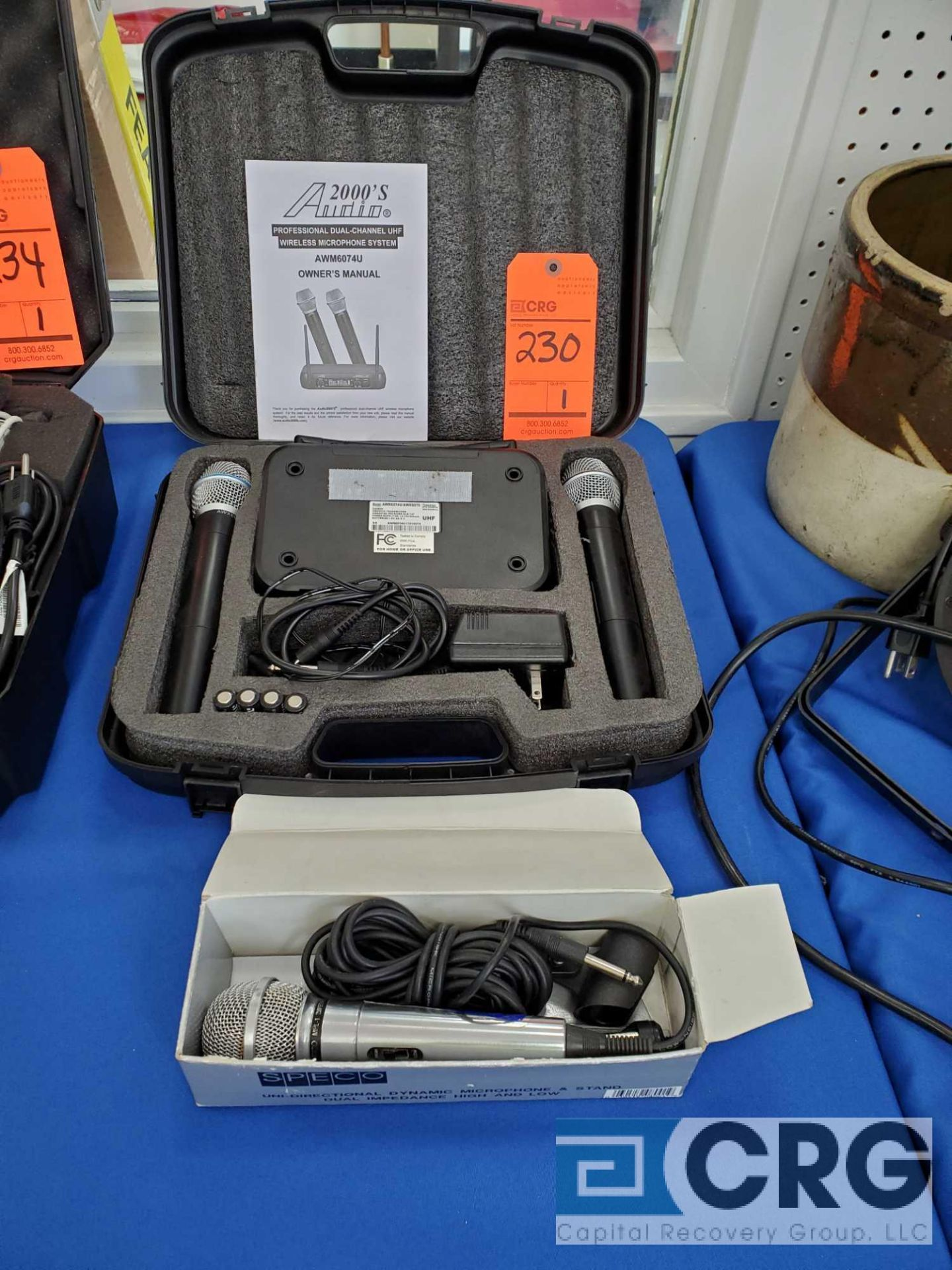 Lot 230 - Audio 2000's dual channel UHF wireless microphone system