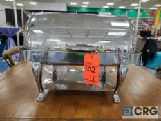 8 qt stainless rolltop chafer with 4 in. deep pan, 12 x 20