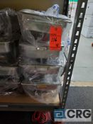 Lot of (4) assorted 8 qt rectangular chafing dishes with stainless handles, 12 x 20