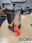 Lot of (2) assorted 55 cup stainless coffee makers