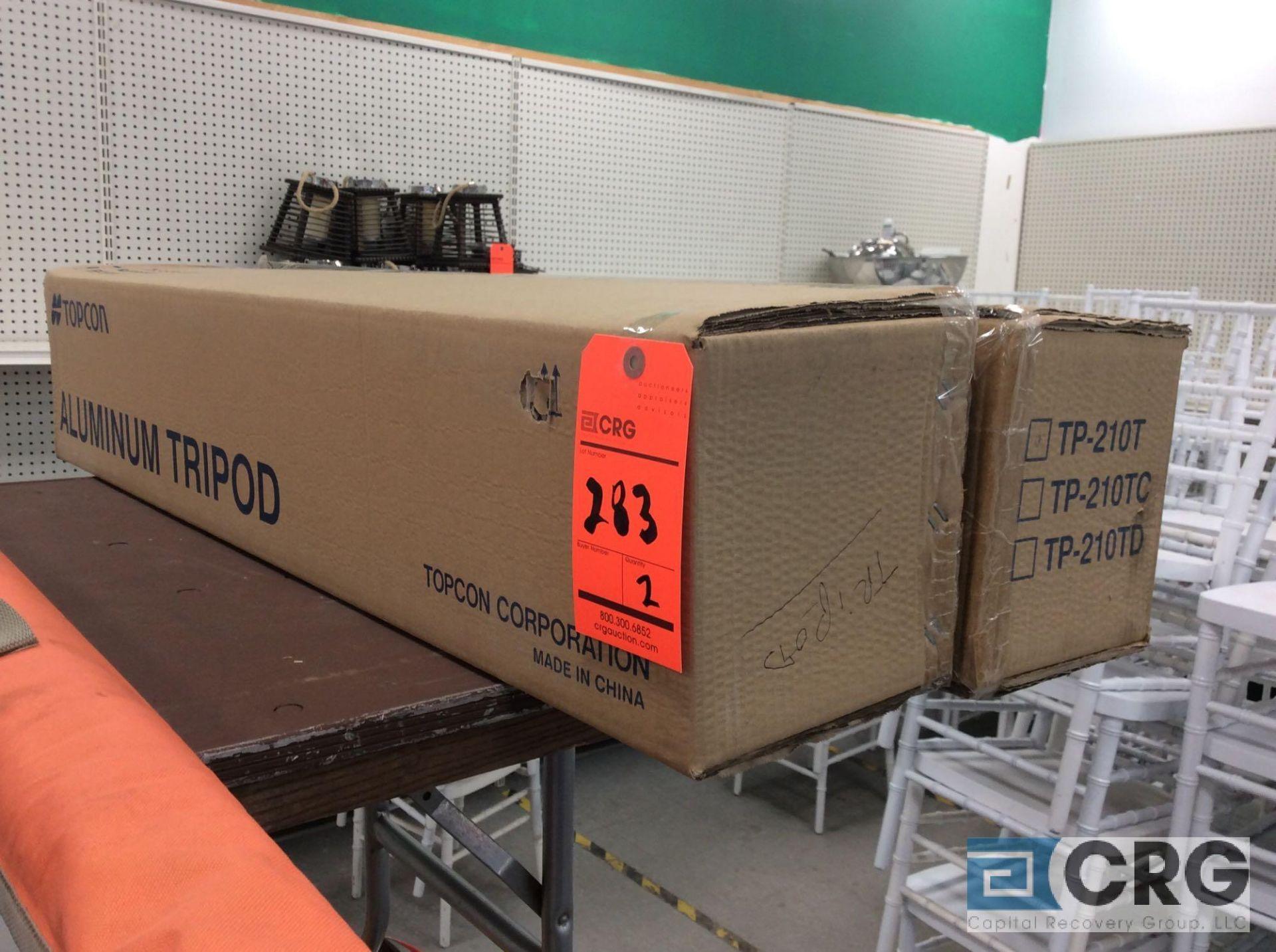Lot 283 - Lot of (2) TP-210T aluminum tripods (NEW)