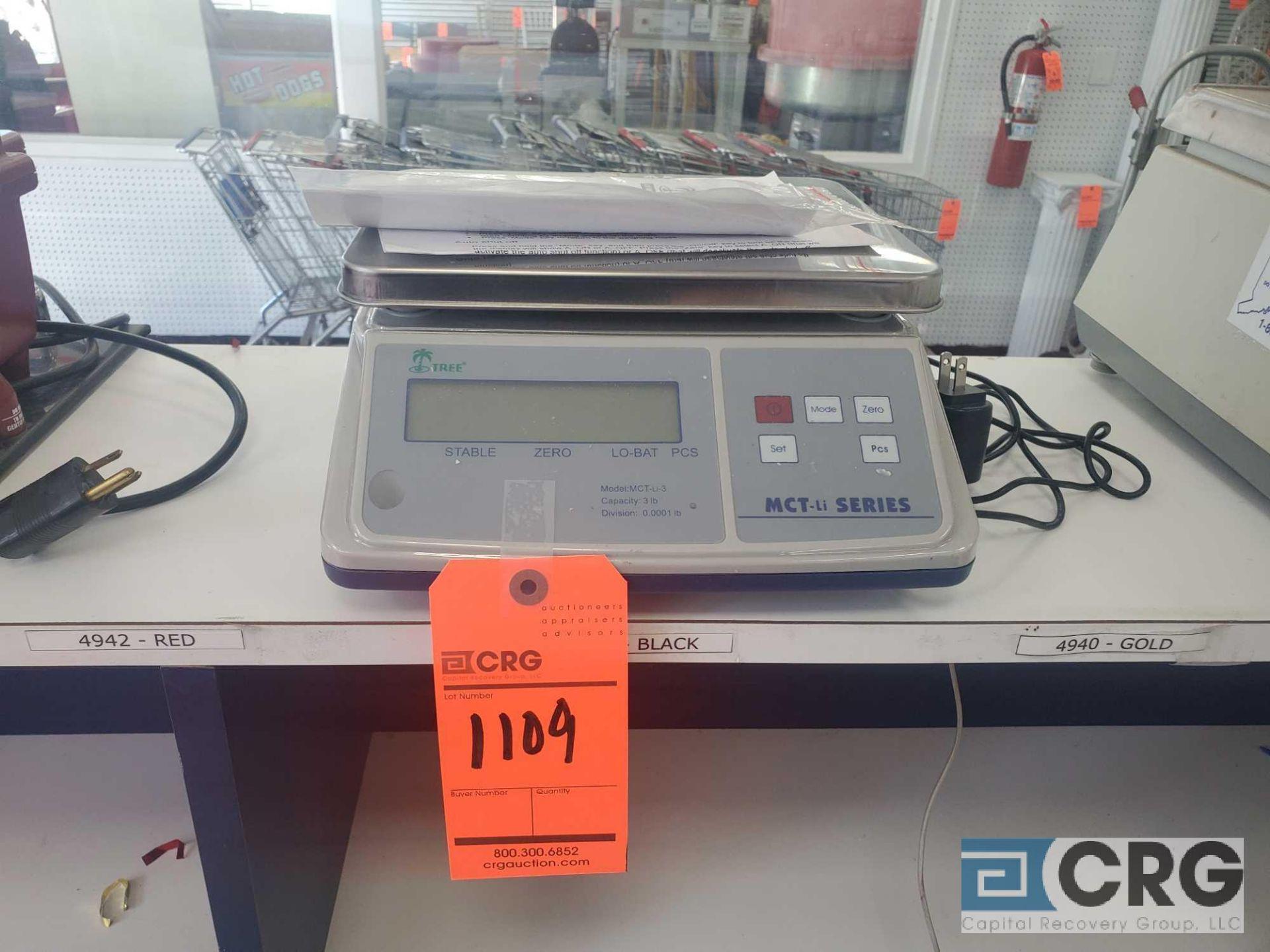 Lot 1109 - Tree MCT-LI 3 lb capacity precision scale