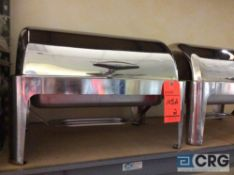 Lot of (2) 8 qt stainless rolltop chafer with 4 in. deep pan, 12 x 20