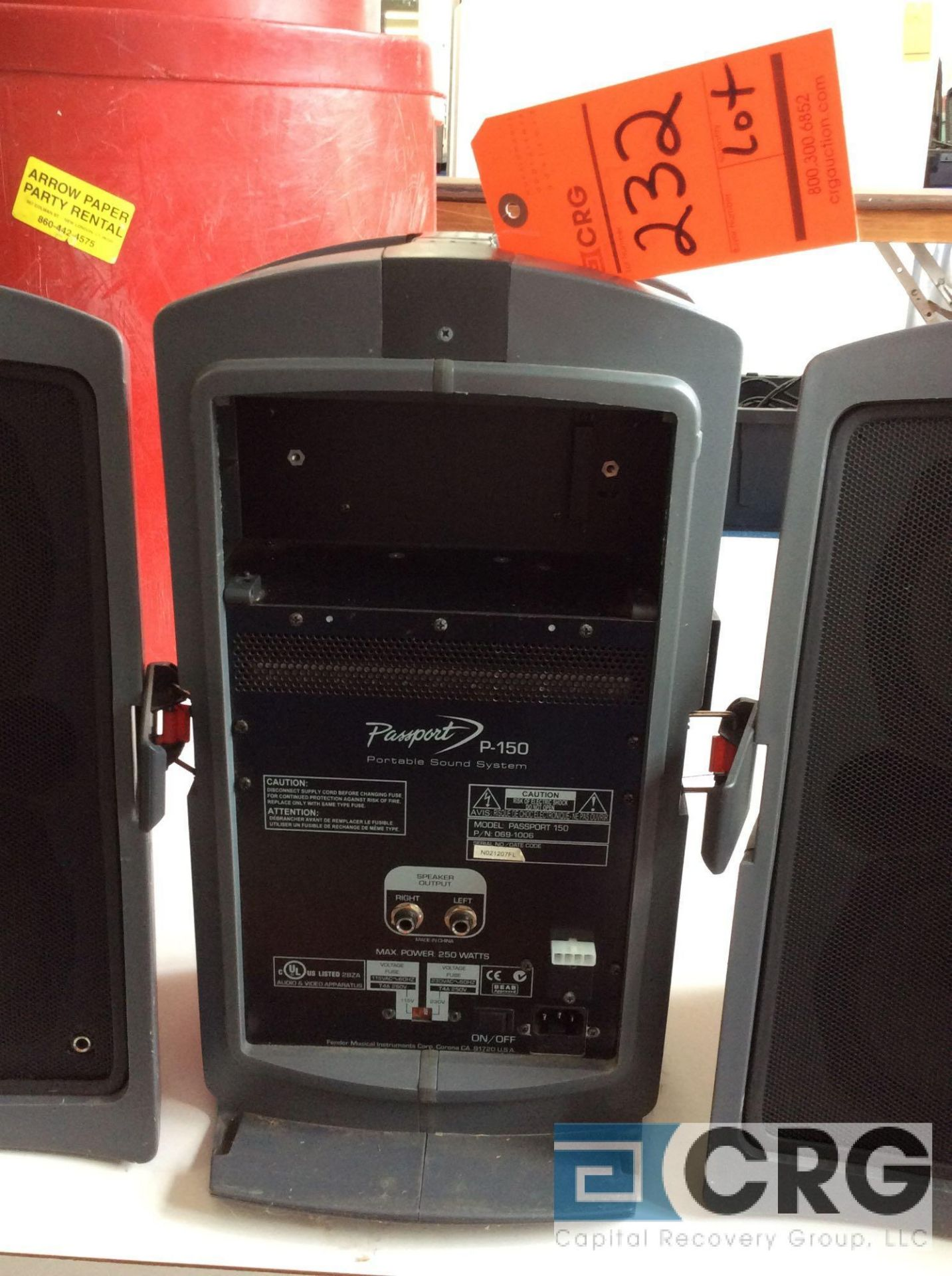 Lot 232 - Fender Passport P-150 portable sound system with stands