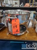 Lot of (2) 8 Qt round silver plated chafing dish, 12 in. diameter