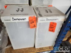 Lot of (2) assorted 50 cup stainless samovars