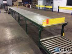 (2) sections approx 30 feet roller conveyor, 35 1/2 X 2 inch rollers