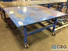 60 X 60 inch portable steel work table