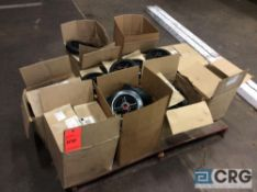 Lot of casters, 8 inch solid wheel