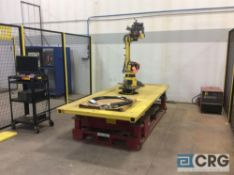 Fanuc welding robot ARC MATE 100iBe with Lincoln PowerWave 455M power source, GE FANUC SYSTEM R-J3iC