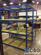 Lot of (2) 6 X 7 X 3 feet sextions adjustable shelving