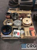 Lot asst spools welding wire