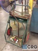 acetylene cutting torch with gages and cart