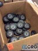 Lot of casters, 8 inch rubber with hard plastic