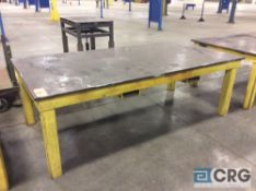 4 X 8 foot heavy duty welding table with 1 inch plate