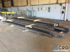 Lot of asst steel stock including 5 X 10 foot steel sheet asst thickness and gage, asst square