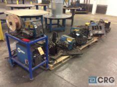 Lot of asst parts welders, wire feeders, etc