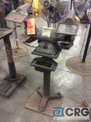 Baldor 6 inch double end grinder with pedestal base, 1 phase