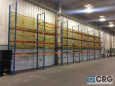 Lot of pallet racking consisting of (23) 16 foot uprights, 42 inches deep, (4 X 1 1/2), (142) 9 foot