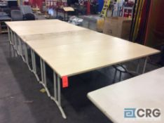 Lot of (8) 7 foot X 24 inch formica top work tables