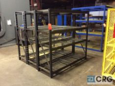 Lot of (3) 6 X 6 X 2 feet sections Gladiator adjustable shelving
