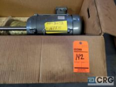 BALDOR electric motor with 17 1/2 in. shaft, no. C76017177, 5 hp, 3 phase, 3450 rpm's, 230v/460v,
