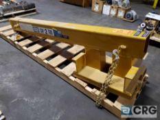 Contrx cranes boom lift forklift attachment, 2 ton capacity, m/n JLT411 extends up to 13 ft.