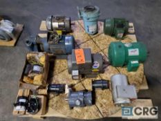 Lot of (13) assorted pumps and motors